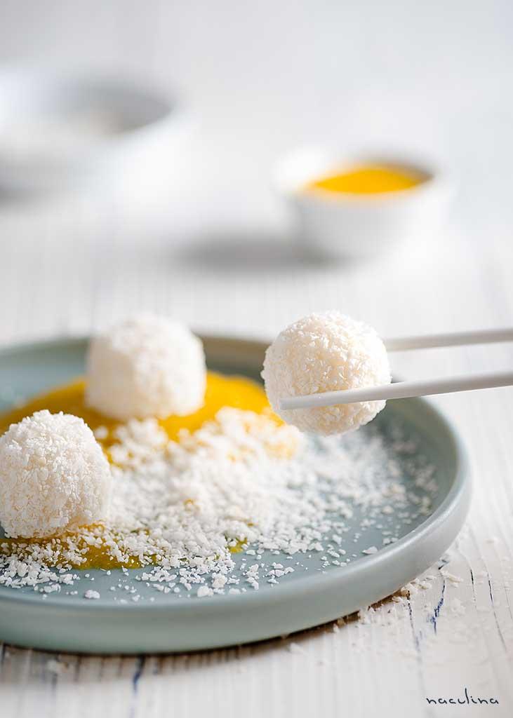 Süße Reisbällchen mit Mangosoße1