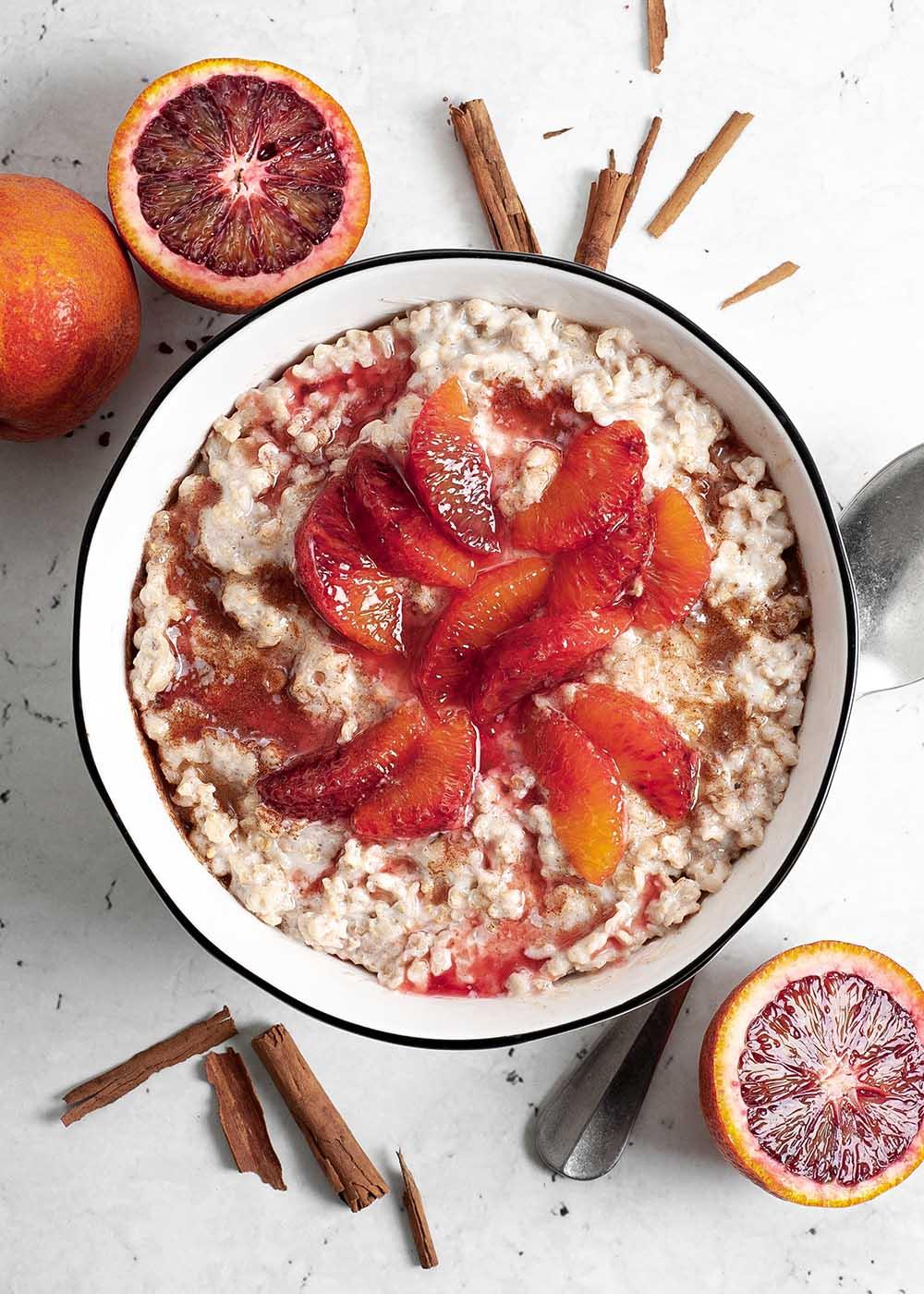 Zimt Porridge mit Blutorangen 1
