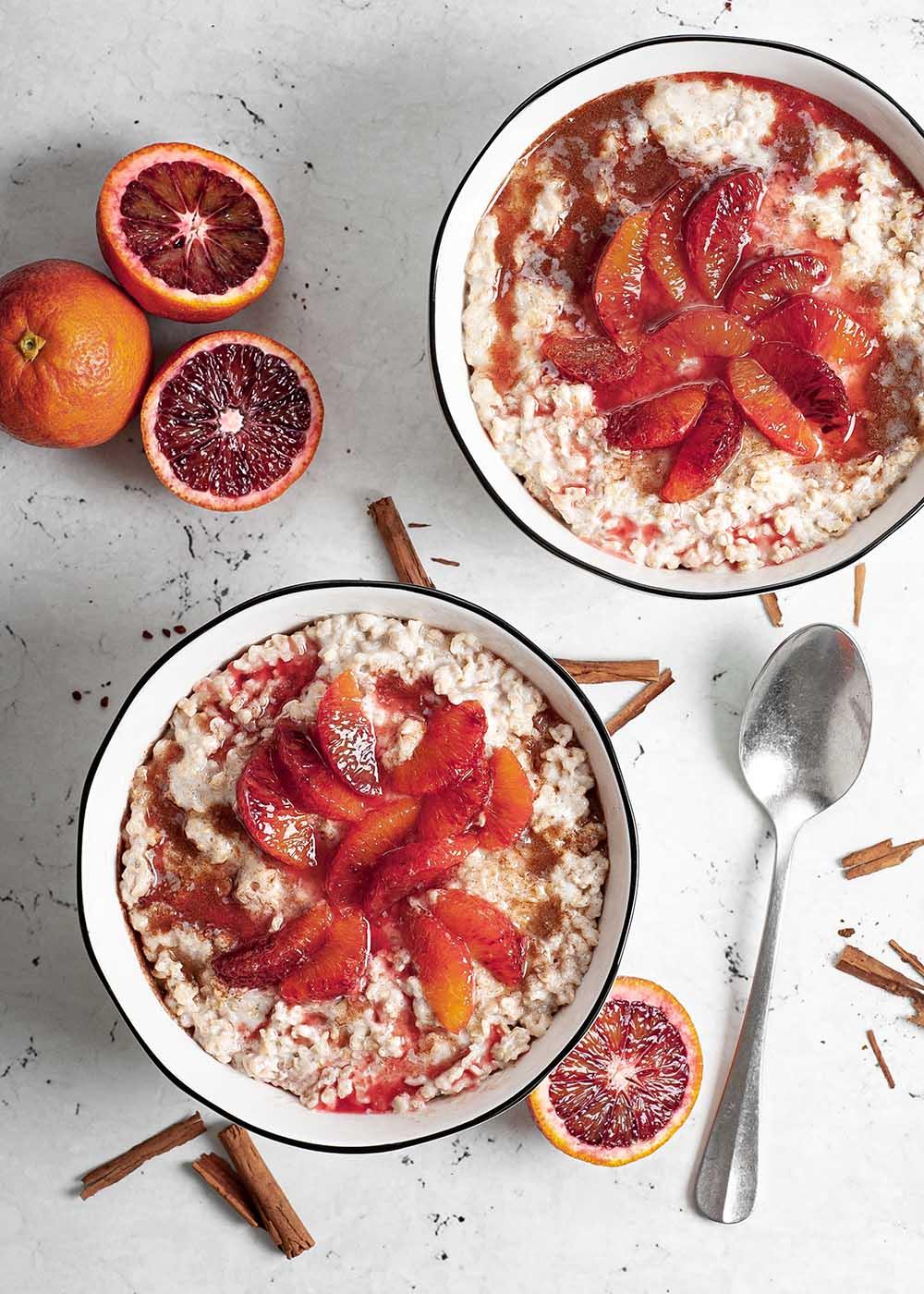 Zimt Porridge mit Blutorangen 2